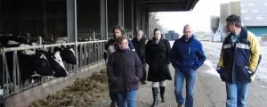 Werkbezoek melkveehouder Antonides Holwerd