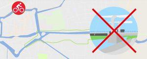 Het fiets- en wandelverbod op de Schreiersbrug. Onbegrijpelijk!
