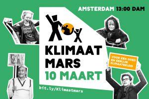 Loop mee in het Blok Werelderfgoed Waddenzee tijdens de Klimaatmars op 10 maart!