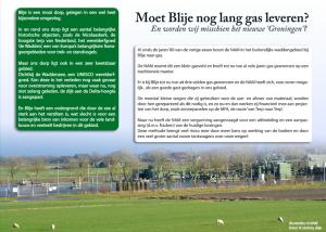 S!N steunt kritische zienswijze gemeente op gaswinningsplan Blija